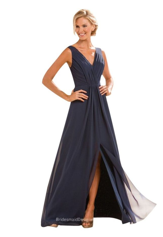 indigo-a-line-sleeveless-v-neck-pleated-chiffon-long-bridesmaid-dress-1